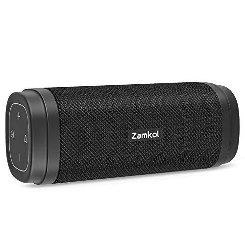 Zamkol Bluetooth Lautsprecher Musikbox 30W Bluetooth Box Tragbarer Lautsprecher Boxen mit Verbesserter Bass Kabelloser Stereoklang IPX6 Wasserdicht und Eingebautes Mikrofon