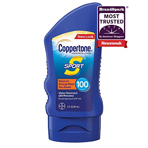 Coppertone SPORT Sunscreen Lotion Broad Spectrum SPF 100 (3 Fluid Ounce) (Packaging may vary)