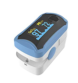 Fingertip Pulse Oximeter Upgraded OLED Screen Without  case or shock cover