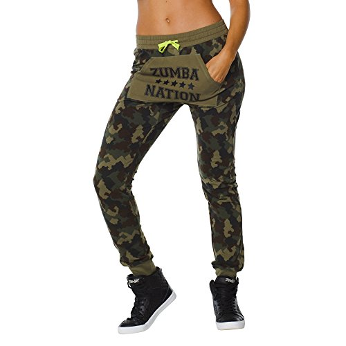 Zumba Fitness Zumba Nation Jogger Sweatpants Pantalones, Mujer, Verde, XXL