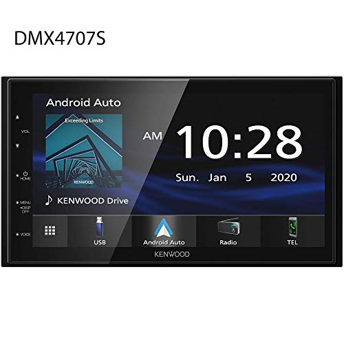 """Kenwood DMX4707S 6.8"""" Capacitive Touch screen Digital Multimedia Receiver with Apple CarPlay & Android Auto (does not play CDs)"""