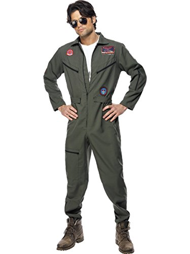 Original Top Gun Kostüm Topgun Pilotenkostüm L/XL oliv