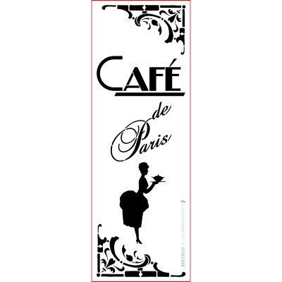 graphits Schablone Shabby Chic Kreativbaukasten French Style,01-003-0008, Café de Paris als Wandschablone, Textilschablone, Möbelschablone, Keilrahmengestaltung und Deko, Größe anpassbar