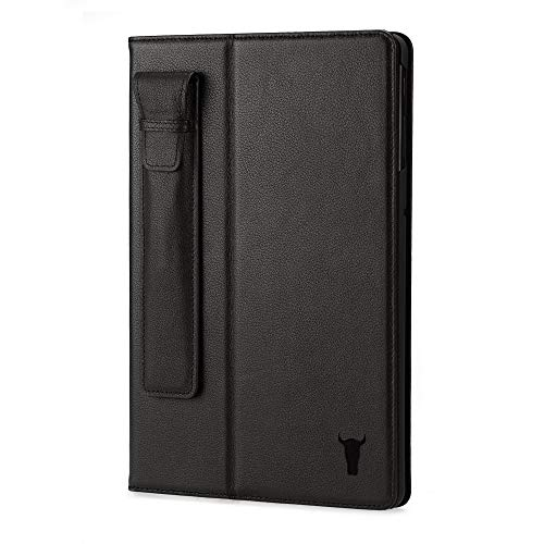 TORRO Genuine Leather Stand Case Compatible With Samsung Galaxy Tab S4 (Black)