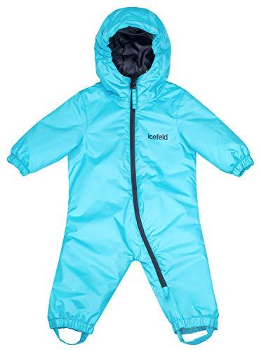 icefeld Schneeoverall/Skianzug für Babys und Kleinkinder (Jungen und Mädchen), türkis in Größe 86/92