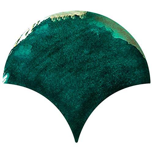 Prosperveil 20 Stück 3D Fischschuppen Wandfliesen Aufkleber selbstklebend Wasserdicht Küche Badezimmer Mosaik Fliesen Wand Transfers Aufkleber Vinyl Decals Home Decor 15 x 13 cm (Smaragdgrün)