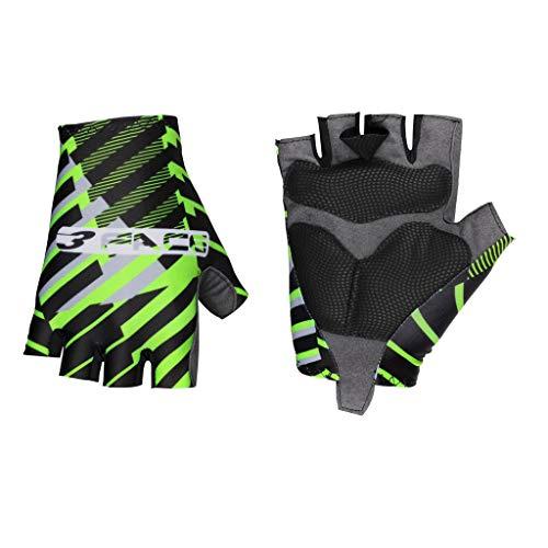 Threeface - Guantes de verano para bicicleta, fabricados en Italia, Unisex adulto, Verde, S