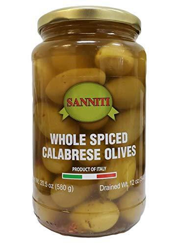 Sanniti Whole Spiced Calabrese Olives, 20.5 Ounce Jar