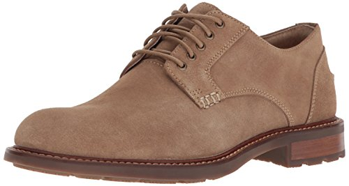 Sperry Men's Annapolis Plain Toe Suede Oxford, Tan, 9