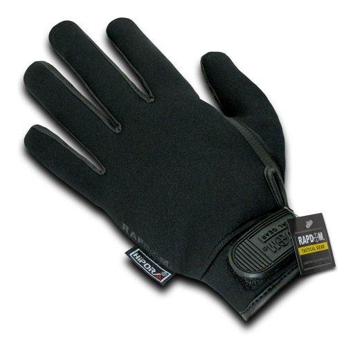 RAPDOM Tactical Neoprene Waterproof Gloves, Black, Medium