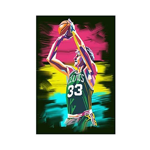 Larry Bird Legend Poster Celtics Basketball Player Canvas Art Bedroom Decor Picture Prints Offices Dorm Room Decor Gift 12×18inch(30×45cm) Unframe-style1