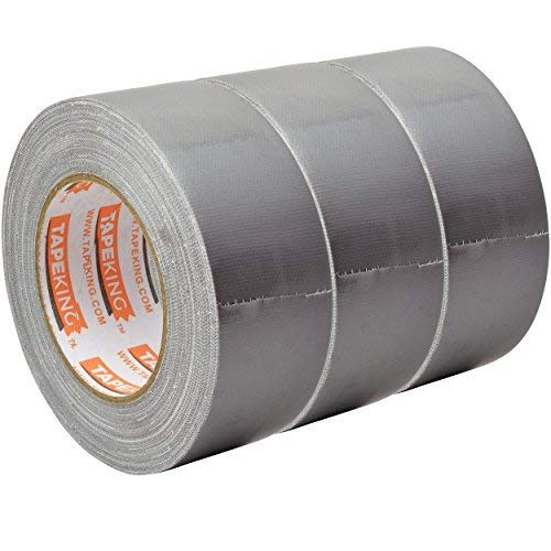Tape King Professional Grade Duct Tape, 3-Pack, Silver Color Multi Pack, 11mil (1.88 Inch x 35 Yards), 48mm x 32m - Ideal for Crafts, Home Improvement Projects, Repairs, Maintenance, Bulk