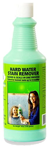 Bio Clean: Eco Friendly Hard Water Stain Remover (40oz Large)- Our Professional Cleaner Removes Tuff Water Stains From Shower doors, Windshields, Windows, Chrome, Tiles, Toilets, Granite, steel e.t.c