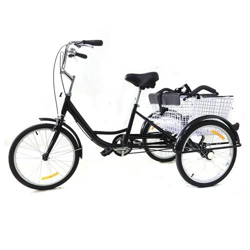 Ruota dentata da 20 pollici, con seggiolino per bambini, per adulti, velocità singola, 3 biciclette, triciclo per adulti, per adulti e Tricycle Comfort, bici per sport all aperto, City Urban