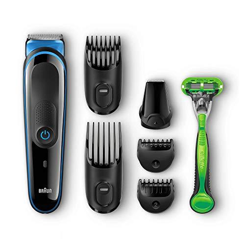 Braun MGK3042 Zwart/Blauw - 7-in-1 Multi Grooming Kit + Gillette Body Scheersysteem