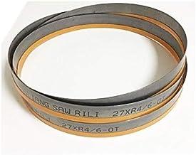 X-BAOFU, 1pc Durable2450 * 27 * 0,9 * 4/6 Consejo M42 TPI Bi Metal Sierras de Cinta for Tubos de Acero Inoxidable Perfil HSS (tamaño : 2450 4 6tip)