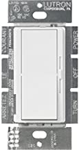 Lutron DVSTV-WH Diva 8 Amp 3-Way/Single-Pole 0-10V Dimmer, no Neutral Required, White