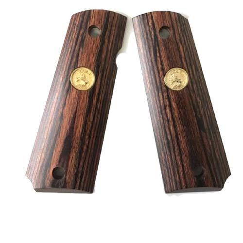 木製グリップ 東京マルイ GBB ガバメント 用(スムース/メダル 樺材 ブラウン)|AWG-410