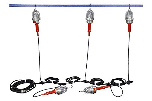 Fantastic Deal! 100 ft. Explosion Proof String Lights - Class 1 & 2 Division 1-5 Drop Lights - 20ft ...