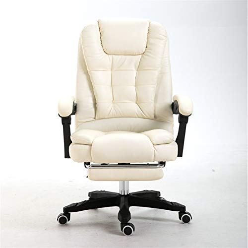 LZRDZSW Uno-touchmassage, Presidente de internet Silla de oficina de cuero PU calidad Ejecutivo ergonómico ordenador Butaca de juego for la silla del hogar Café for sillas de Ministerio del Interior C