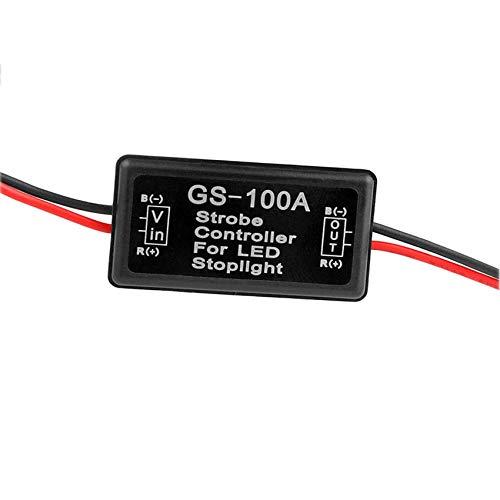 Podoy GS-100A Flash Strobe Controller Flasher Module for LED Brake Tail Stop Light 12V-24V