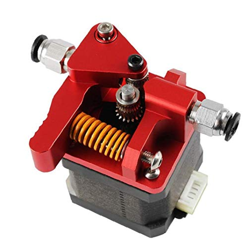3D Printer Extruder Upgraded Metal Adapter Dual Drive Extrusion Kit for MK8 3D Printer Accessories Red Utilities Industrial Tools