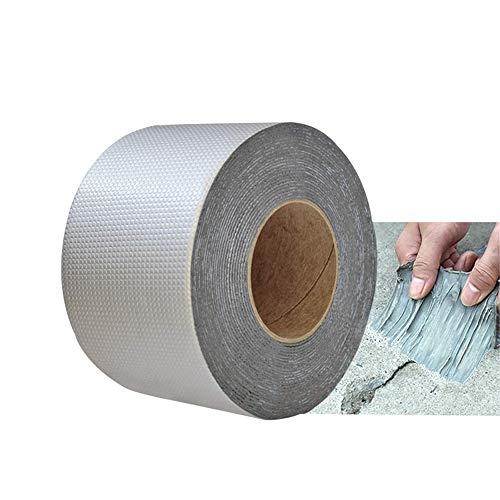 Nueva cinta de butilo resistente al agua de alta calidad para reparar fugas en techos, tuberías, etc. Cinta de sellado de aluminio de caucho butílico para reparar varias grietas (15cm x 5m)