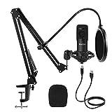 Studio USB Condenser Microphone, ikedon Professional 192kHz/24bit Cardioid Recording...