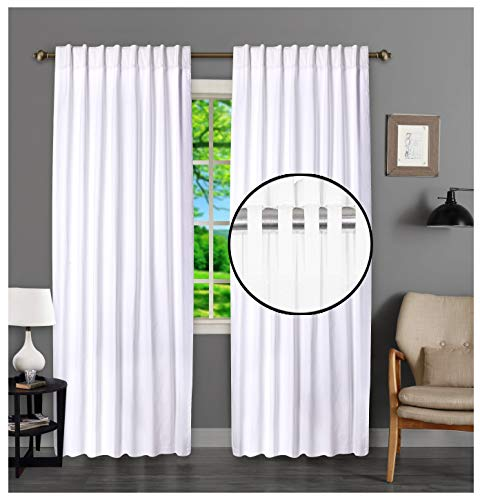 White Cotton Curtains Set of 2, White Cotton Curtains 63 inches Long & 50 inch Wide,Cotton Curtains,tab top Curtains,White Cotton Curtains,White Panel Curtains,Cotton Duck Curtains,tab top Curtains