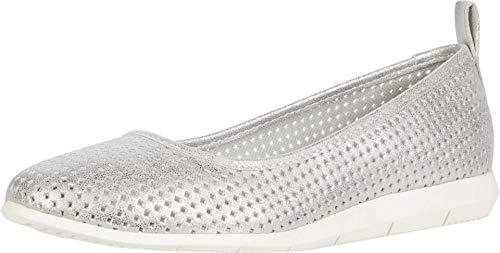 Aerosoles Women's Ballet, Skimmer Flat, Silver Metallic,5 M US