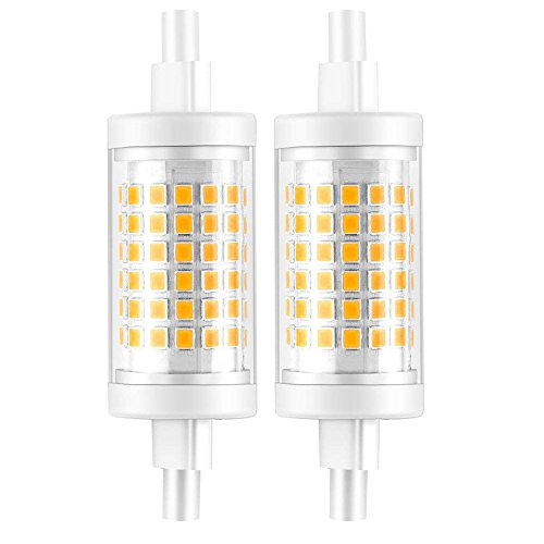 Ampoule R7S LED 7W 78mm 700 lm Lampes- Blanc Froid 6000k 100-265V R7S 70W Halogène Ampoule remplacement, 360 ° Angle de faisceau, Non-Dimmable, Lot de 2