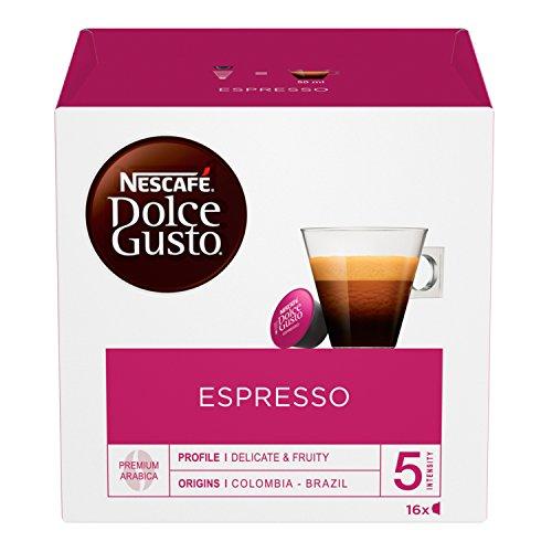 Nescafé Dolce Gusto Espresso, Caffè Espresso 6 Confezioni da 16 Capsule, 96 capsule