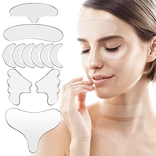 Parches Antiarrugas, Parches Faciales Antiarrugas, Anti-Arrugas Parches, Almohadillas Antiarrugas de Silicona Reutilizable, Tratamiento y Prevención de Arrugas-11