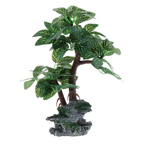 perfk Kunstbaum Kunstpflanzen Terrariumpflanze Aquariumpflanze - Typ 1, L