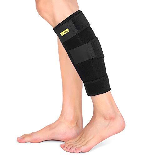 Pantorrilla de compresión de neopreno, Soporte de pantorrilla ajustable, Manga de pantorrilla para correr, Alivio del dolor de hinchazón, Estiramiento, Varices