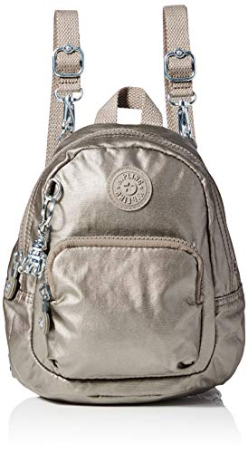 Kipling Glayla, Women's Backpack, Brown (Metallic Pewter Gift), 19x22.5x14 cm (B x H T)