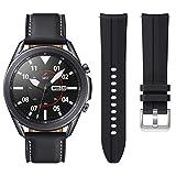 Samsung Galaxy Watch3 45mm Smartwatch with Extra Band Included, Mystic Black, SM-R840NZKCXAR (Renewed)