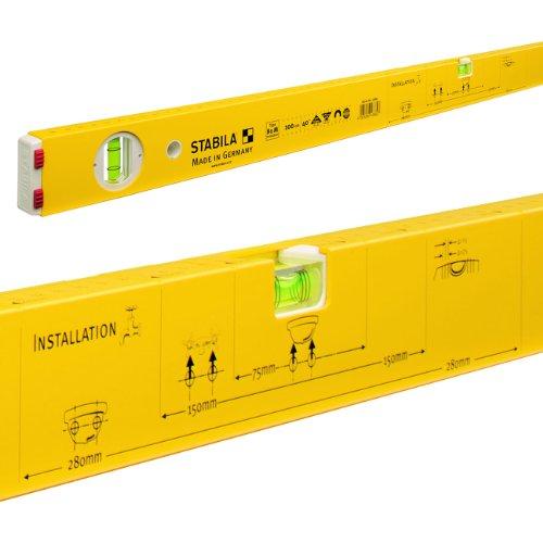Stabila 80 M 80M Installation Wasserwaage, Gelb, 100 cm