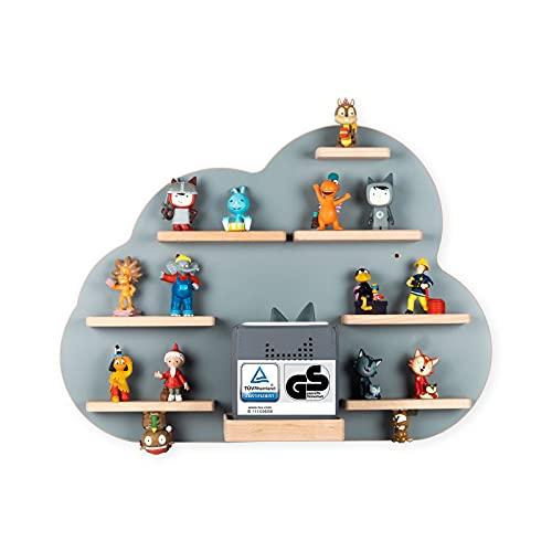 BOARTI Kinder Regal Wolke in Grau TÜV/GS-Zertifiziert - geeignet für die Toniebox und ca. 43 Tonies - zum Spielen und Sammeln