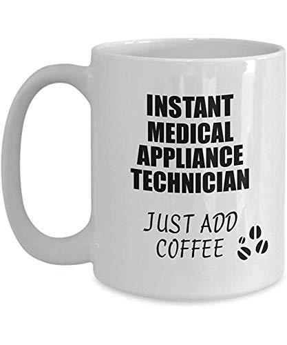 Medisch apparaat technicus mok direct gewoon toevoegen koffie grappig cadeau idee voor collega huidige werkplek grap kantoor theekop