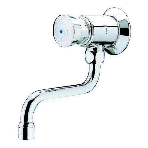 Grifo de lavabo simple 612 fijación a pared con boquilla giratoria agua caliente y fría 12 x 17 NF Ref. 31815
