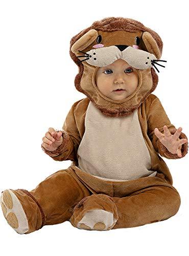 Funidelia | Disfraz de león para bebé Talla 6-12 Meses ▶ Animales, Desierto - Multicolor