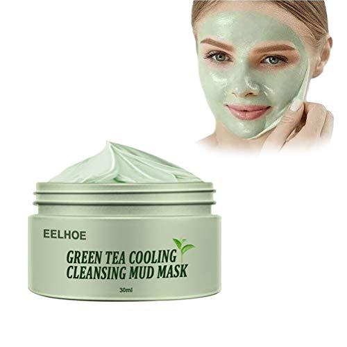 Grüner Tee Gesichtsmaske 30 ML, NATURKOSMETIK Anti Pickel, Mitesser Maske und gegen Akne - Anti-Aging Pflege für trockene und unreine Haut - Reinigungsmaske für Gesicht und Körper