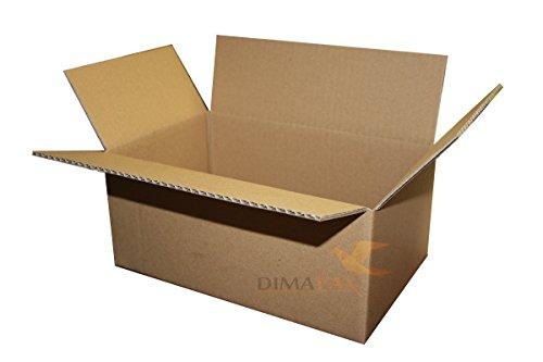 400 vouwdozen 250 x 175 x 100 mm Verzenddozen van golfkarton eengolvende kartonnen verpakkingen Verpakking dimapax