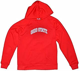 Ohio State Buckeyes Womens Hooded Sweatshirt - Ohio State Arched - By Champion - Scarlet