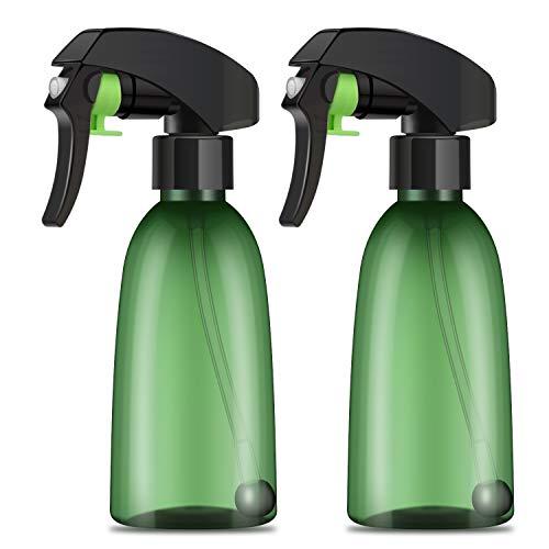 Segbeauty-Sprühflaschen verkehrt herum, 2 Stück 200 ml transparenter Allwinkel-Feinnebelsprüher, auslaufsicherer nachfüllbarer Kunststoffauslöser für Reinigungslösungen, Pflanzen, Wasser, Gartenarbeit