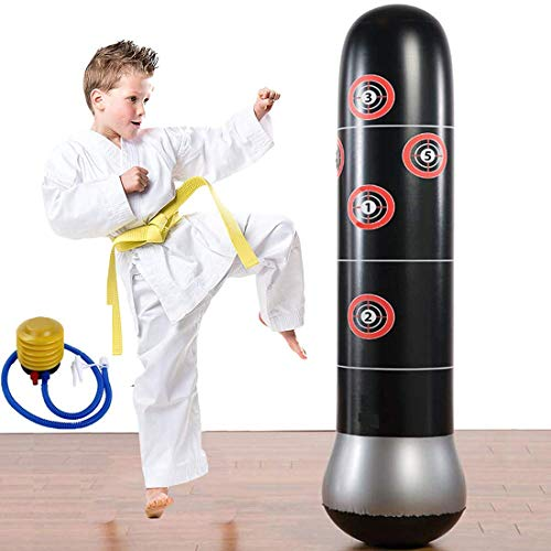Eforoutdoor Fitness Punching Bag Heavy Punching Bag Inflatable Punching Tower Bag Freestanding Children Fitness Play Adults De-Stress Boxing Target Bag 5.25ft
