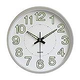 Luminoso Silenciosos Reloj de Pared, Movimiento de Cuarzo, Grande de 12inch y Las Fuentes...