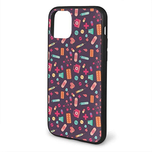 N/A iPhone 11 hoesje EHBO-doos siliconen gel rubberen beschermhoes voor iPhone 11