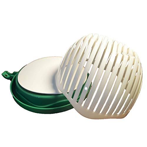 Salad Chopper Cutter Bowl - Family Size Vegetable Slicer - Quick Salad Maker Drip Guard and Strainer